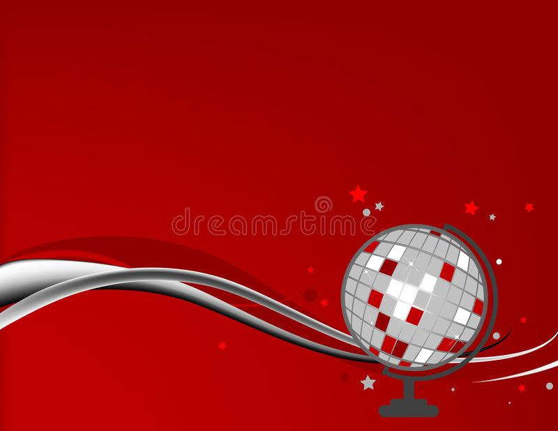 De Achtergrond van de Bal van de disco stock illustratie