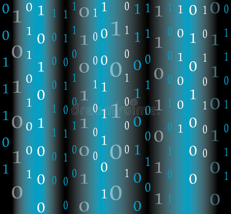De achtergrond van de binaire codestroom stock illustratie