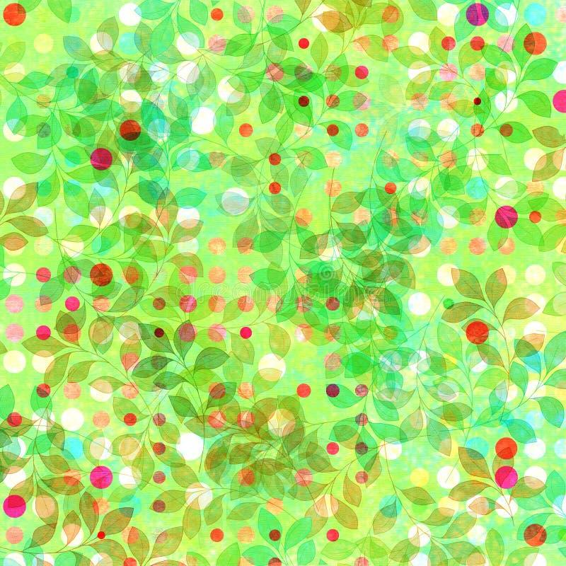 De achtergrond van de Bladeren van de lente vector illustratie