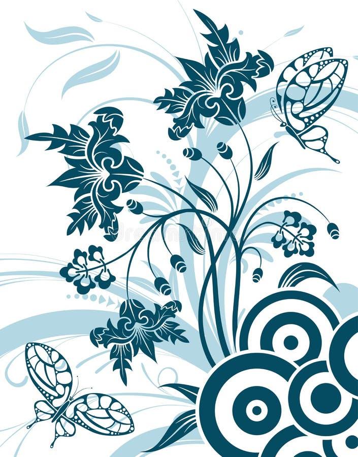 De achtergrond van de bloem royalty-vrije illustratie