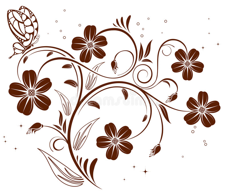 De achtergrond van de bloem vector illustratie