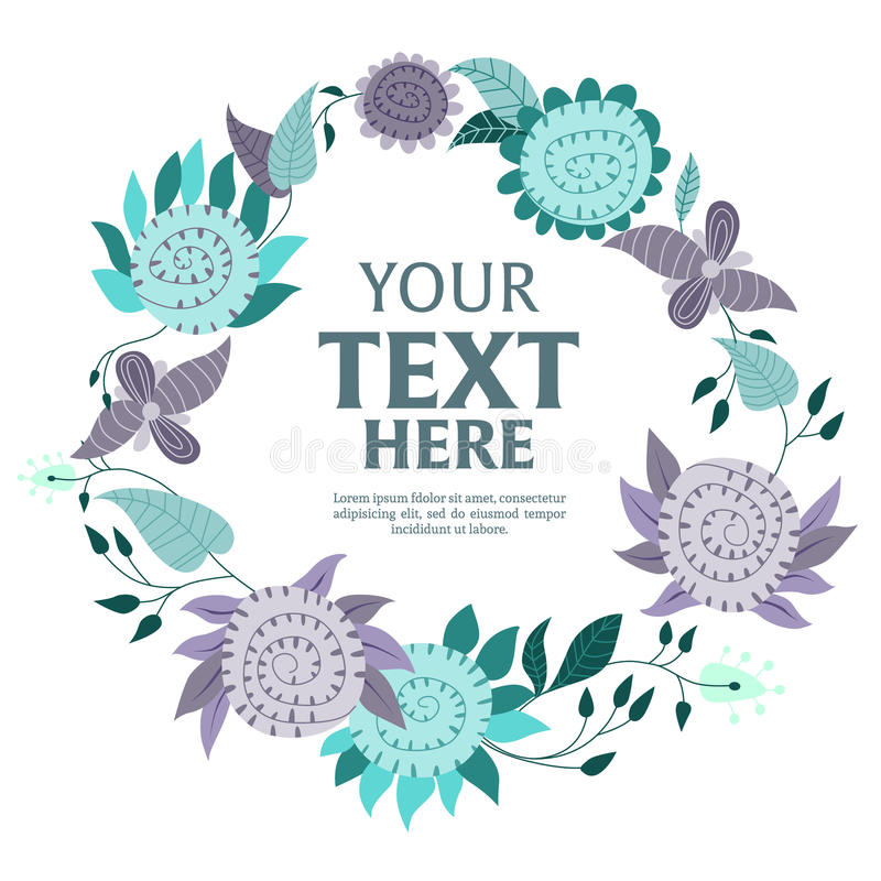 De achtergrond van de bloemkroon stock illustratie