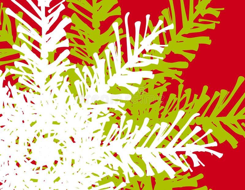 De Achtergrond van de Boom van de Pijnboom van Kerstmis stock illustratie