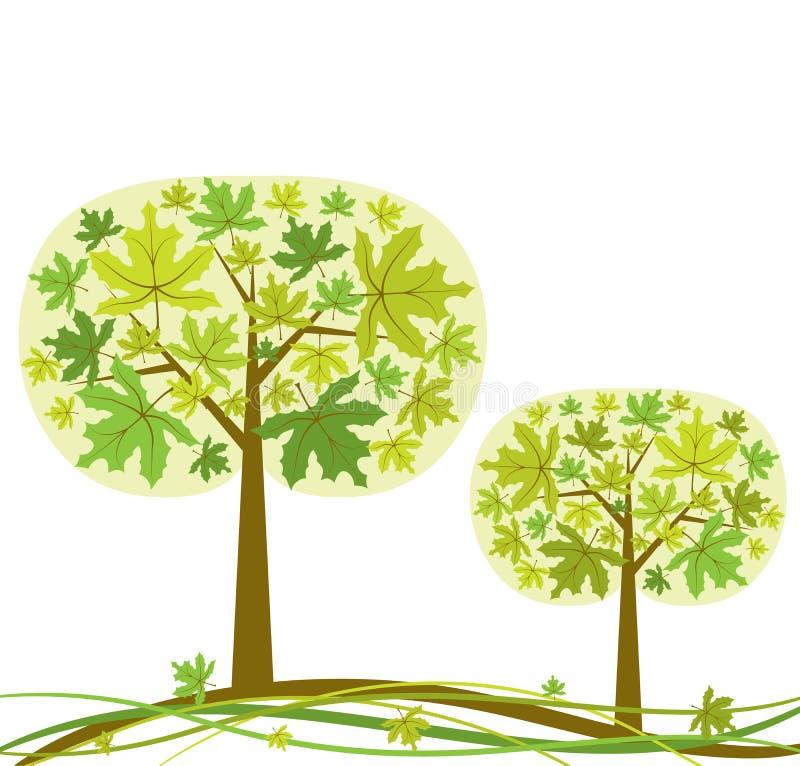 De achtergrond van de boom, vector vector illustratie