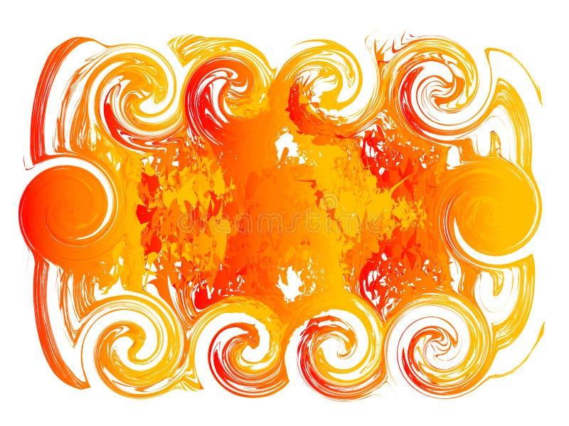 De achtergrond van de brand voor tekst royalty-vrije illustratie