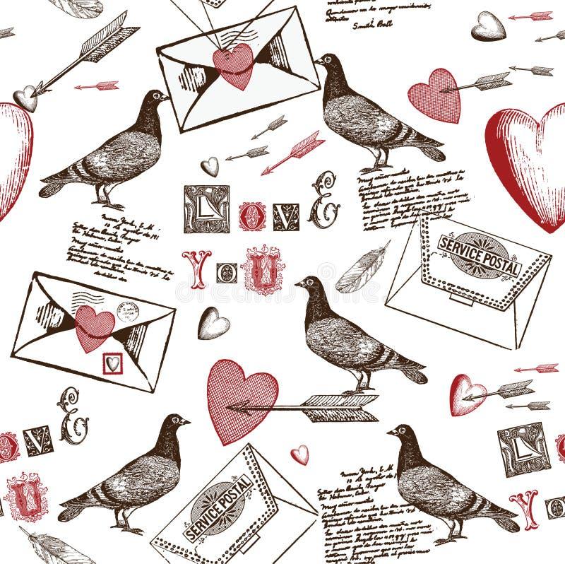 De Achtergrond van de Brieven van de liefde vector illustratie