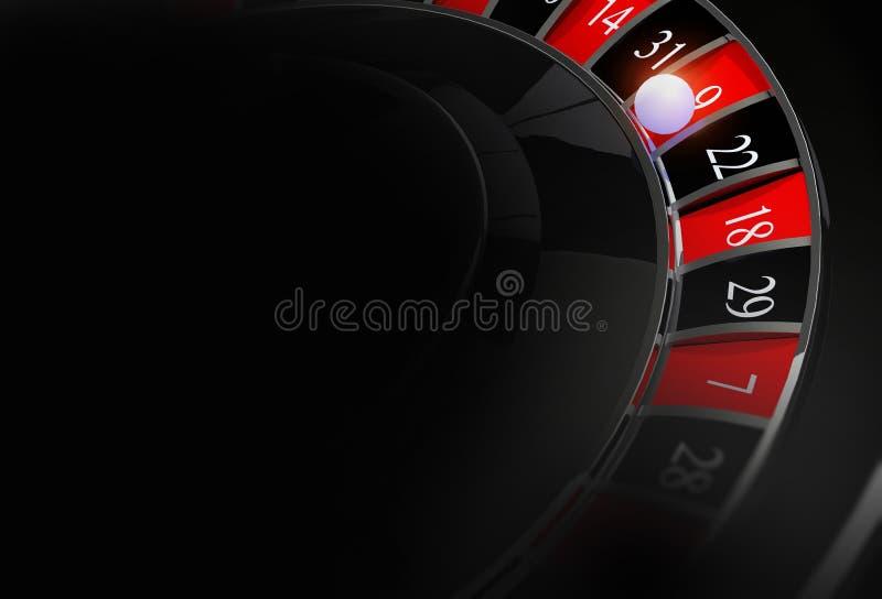 De achtergrond van de casinoroulette stock illustratie