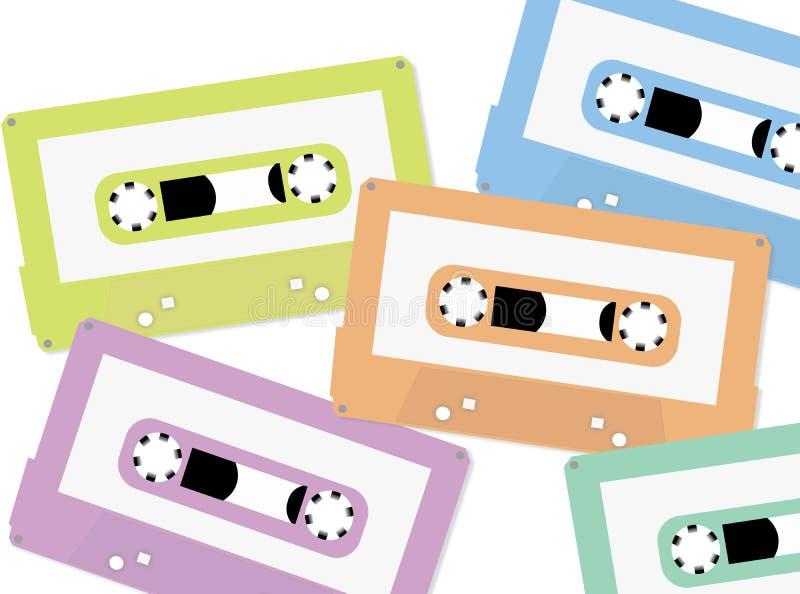 De achtergrond van de cassetteband vector illustratie
