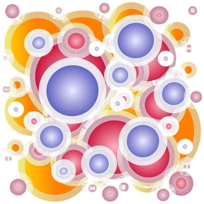 De Achtergrond van de Cirkels van de Hoepels van ringen royalty-vrije illustratie