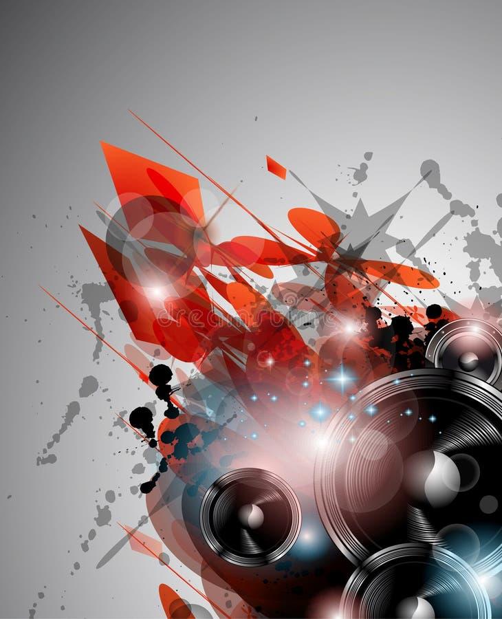 De achtergrond van de Club van de muziek voor internationa van de discodans vector illustratie