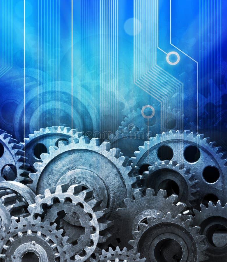 De Achtergrond van de Computertechnologie van radertjes stock illustratie