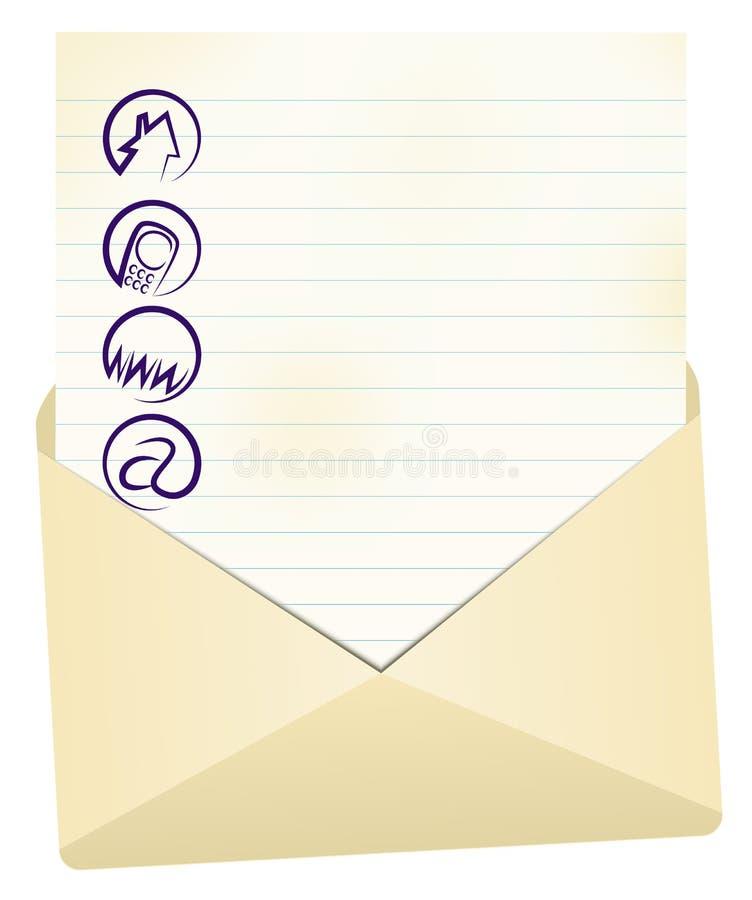 De achtergrond van de contactinformatie royalty-vrije illustratie