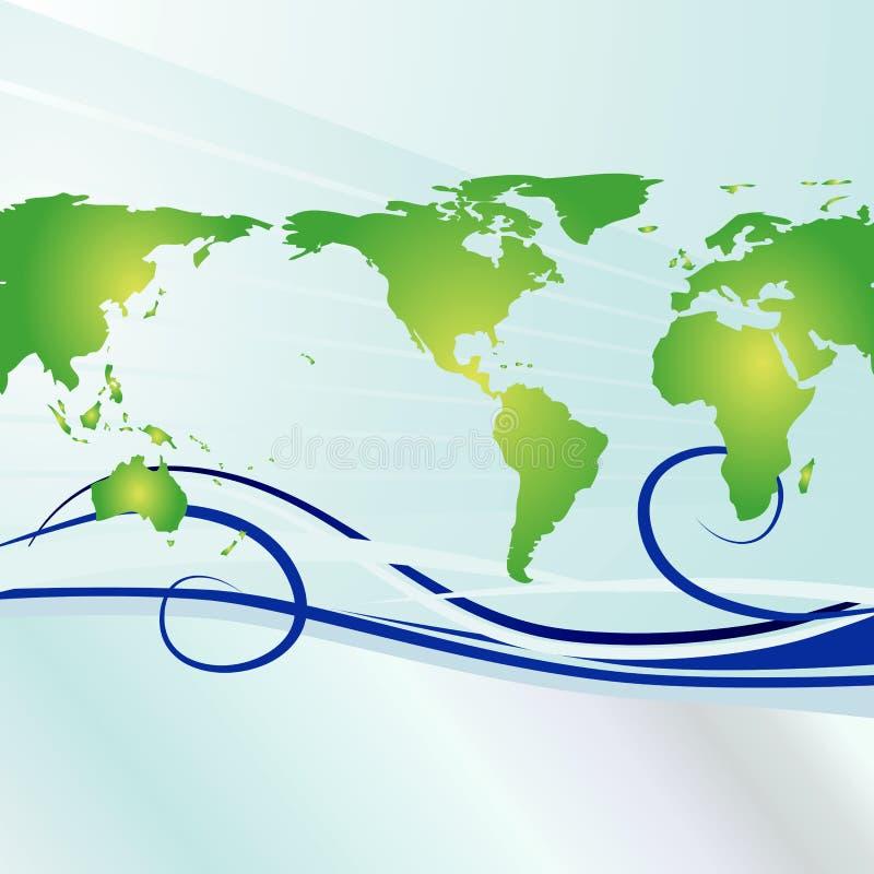 De Achtergrond van de Dag van de aarde vector illustratie