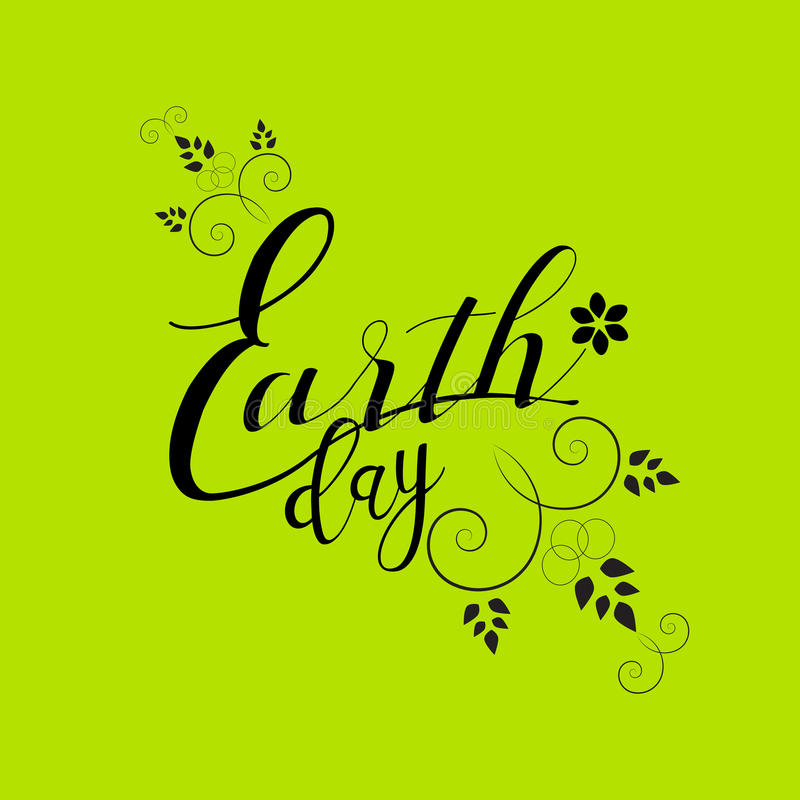 De achtergrond van de Dag van de aarde royalty-vrije illustratie