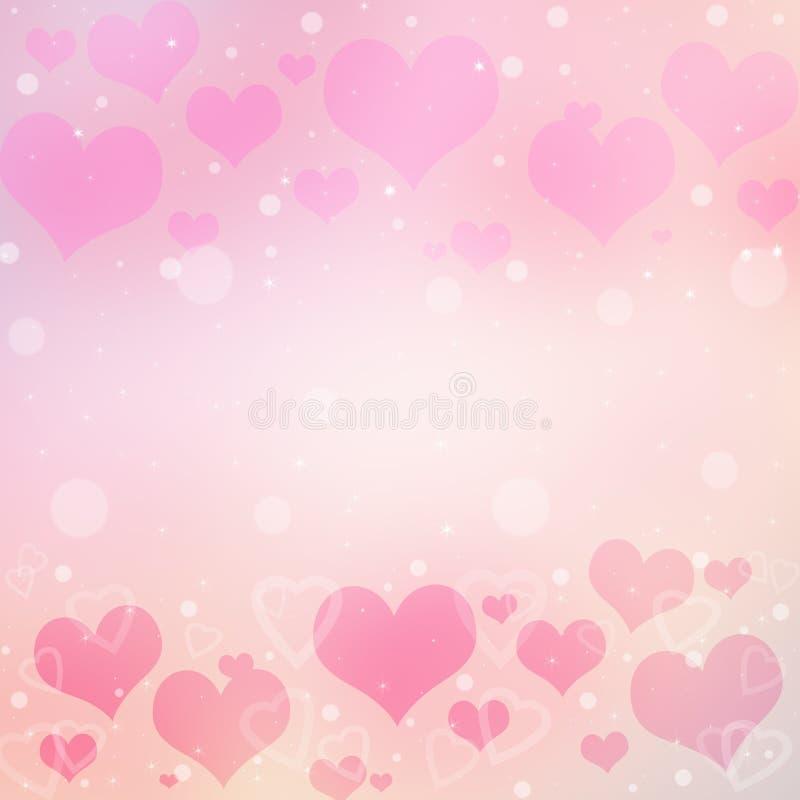 De Achtergrond van de Dag van de abstracte Valentijnskaart met harten royalty-vrije stock fotografie