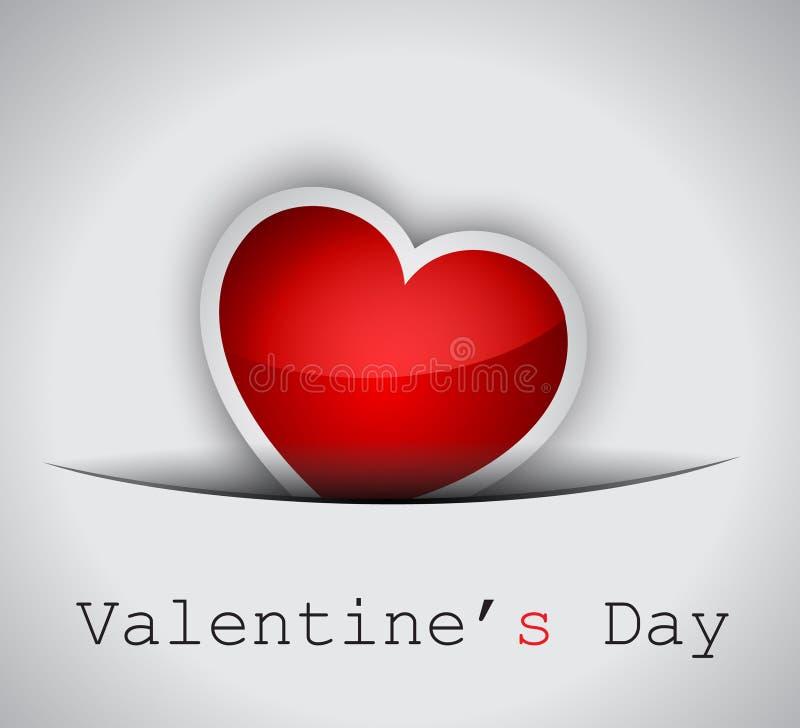 De achtergrond van de Dag van de elegante Valentijnskaart royalty-vrije illustratie