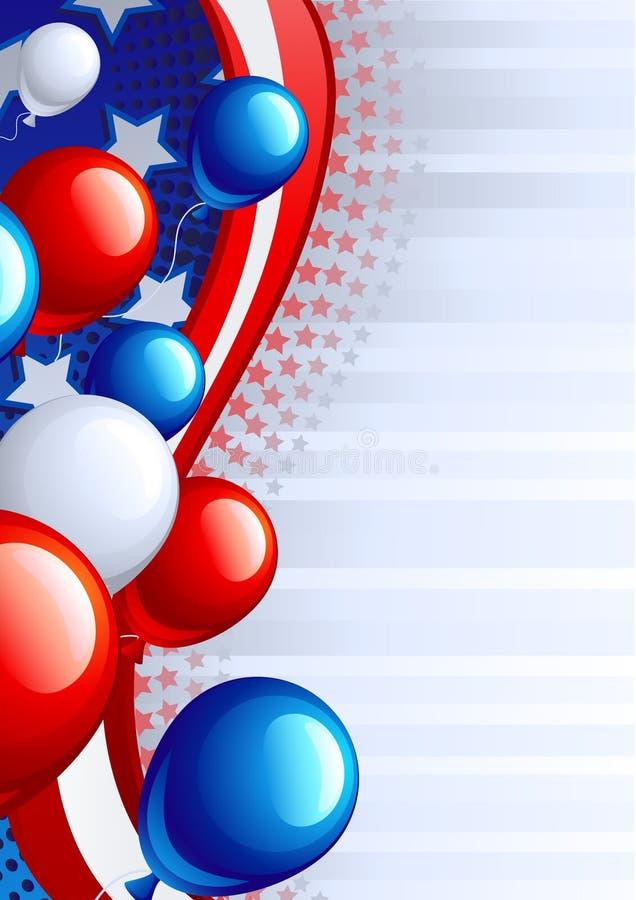De achtergrond van de Dag van de onafhankelijkheid royalty-vrije illustratie