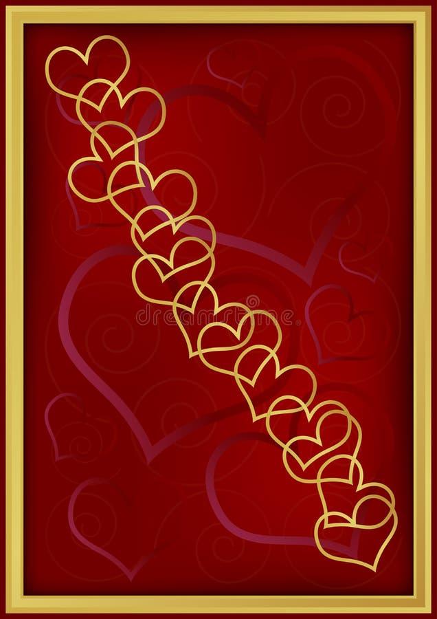 De Achtergrond van de Dag van de valentijnskaart royalty-vrije illustratie