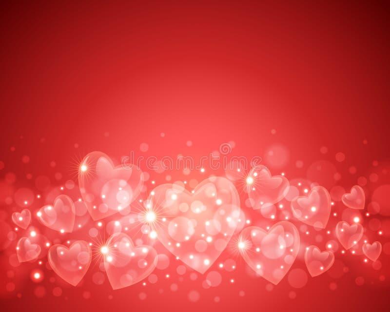 De Achtergrond van de Dag van de valentijnskaart vector illustratie