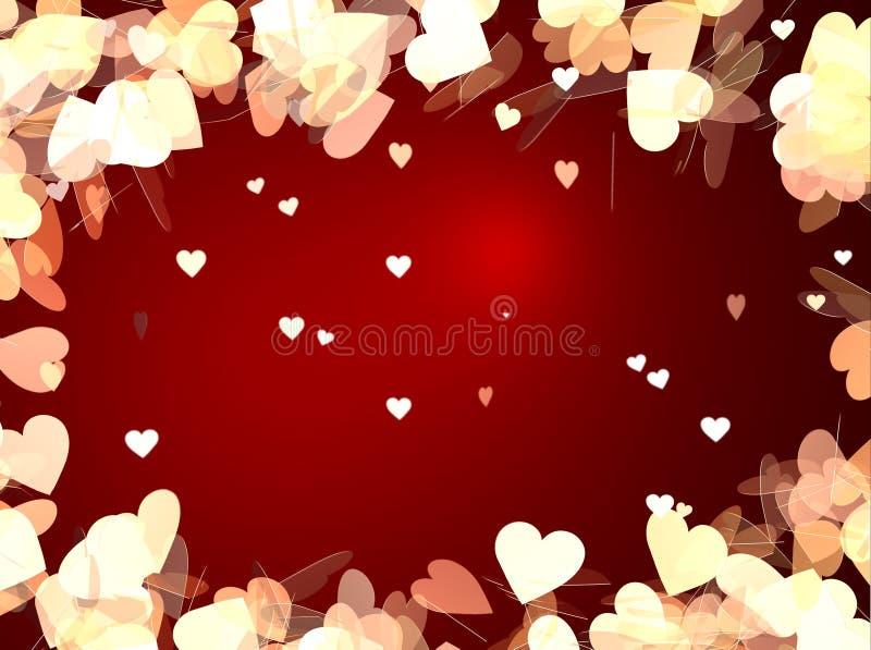 De Achtergrond van de Dag van de valentijnskaart stock illustratie
