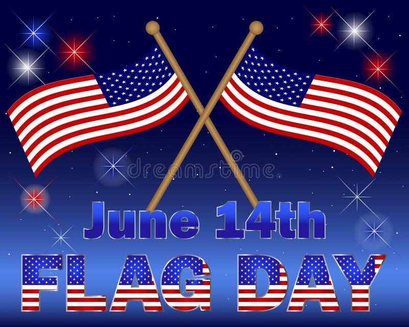 De achtergrond van de Dag van de vlag. royalty-vrije illustratie