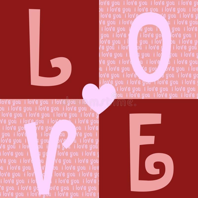 De Achtergrond van de Dag van valentijnskaarten vector illustratie