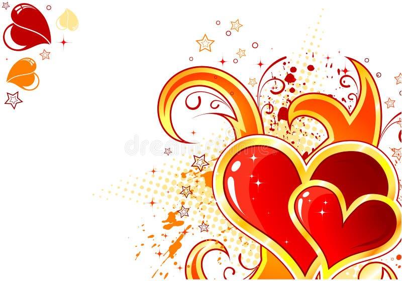 De achtergrond van de Dag van valentijnskaarten stock illustratie
