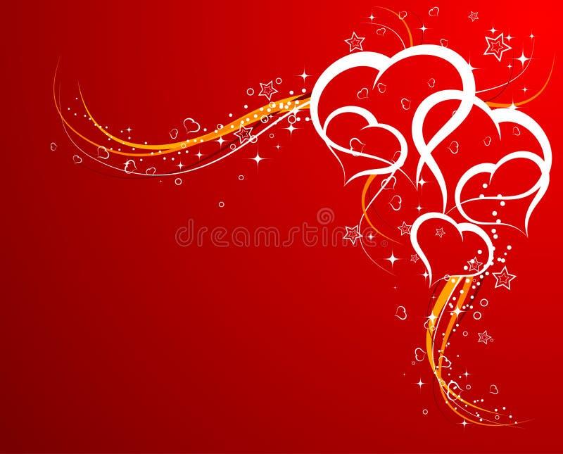De achtergrond van de Dag van valentijnskaarten met vector illustratie