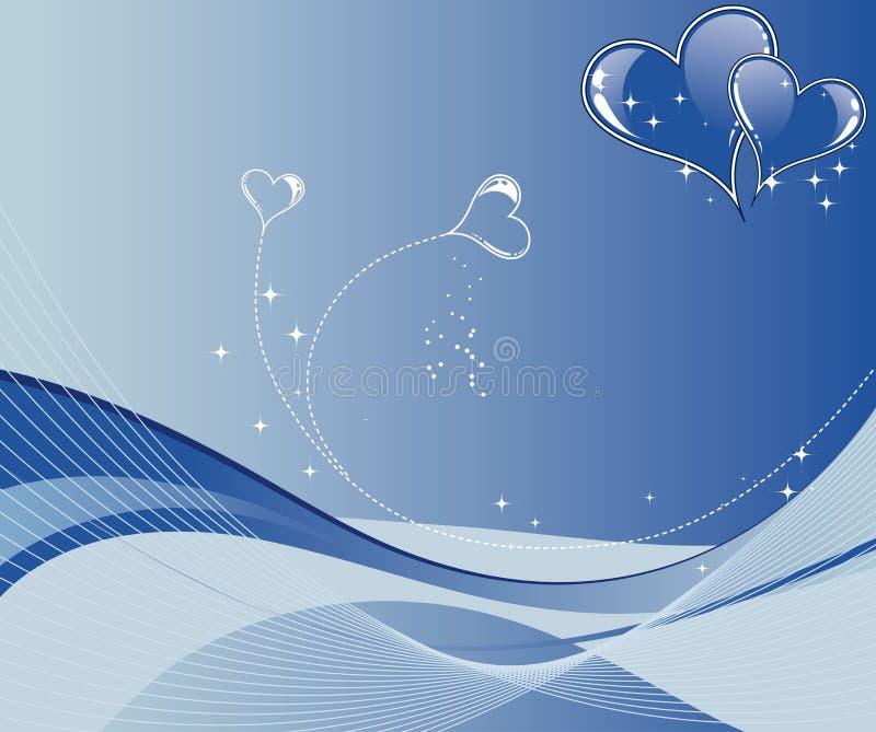 De achtergrond van de Dag van valentijnskaarten met het patroon van de hartengolf royalty-vrije illustratie