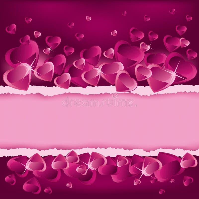 De achtergrond van de Dag van valentijnskaarten met plaats voor tekst stock illustratie