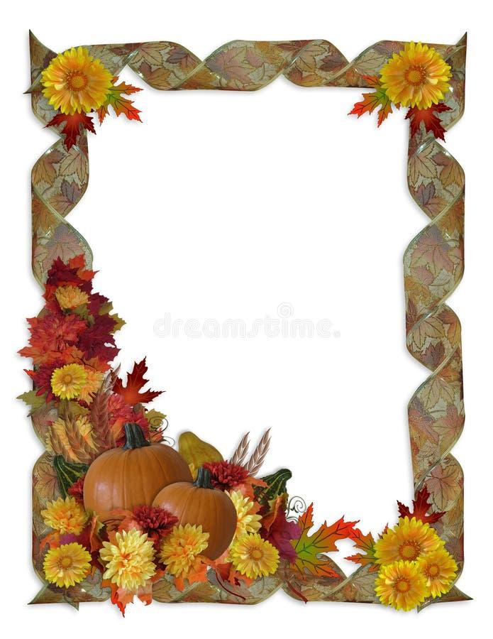 De Achtergrond van de Daling van de Herfst van de dankzegging royalty-vrije illustratie