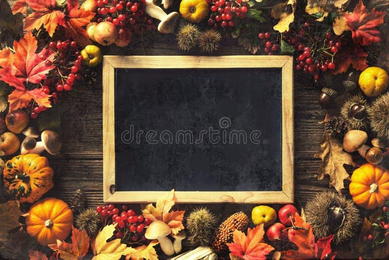 De achtergrond van de dankzeggingsherfst royalty-vrije stock afbeelding