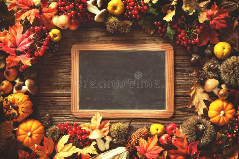 De achtergrond van de dankzeggingsherfst stock afbeelding