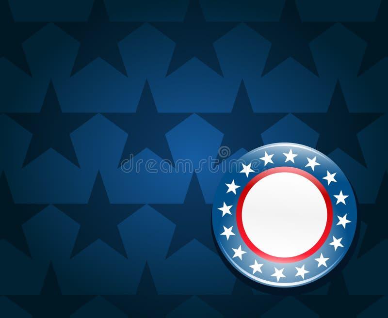 De achtergrond van de de campagneknoop van de verkiezing stock illustratie