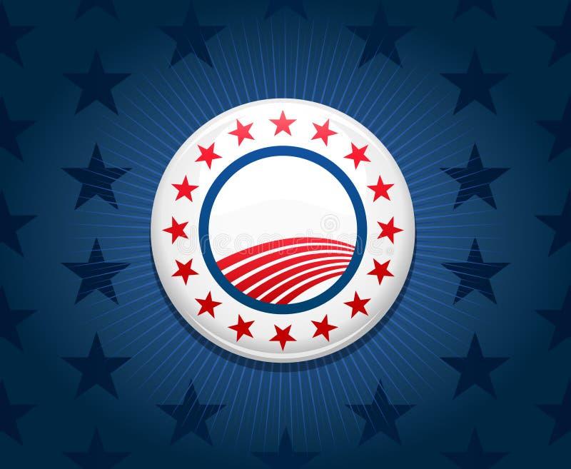 De achtergrond van de de campagneknoop van de verkiezing vector illustratie