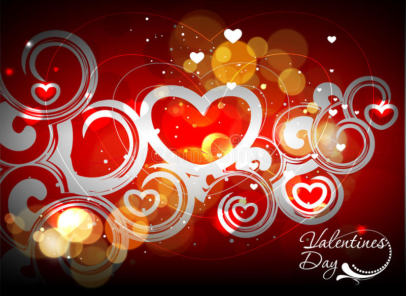De achtergrond van de de dagwerveling van valentijnskaarten royalty-vrije illustratie