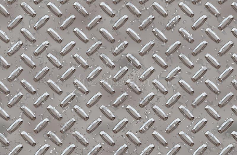 De achtergrond van de de diamantplaat van het staal royalty-vrije illustratie