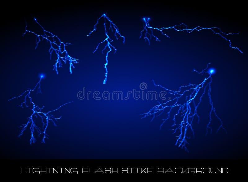 De achtergrond van de de flitsstaking van de bliksem vector illustratie