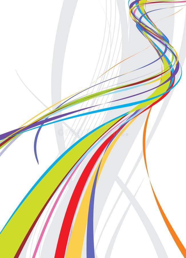 De achtergrond van de de golflijn van de regenboog stock illustratie