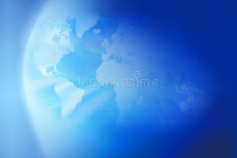 De Achtergrond van de de Kaartbol van de aardewereld royalty-vrije stock fotografie