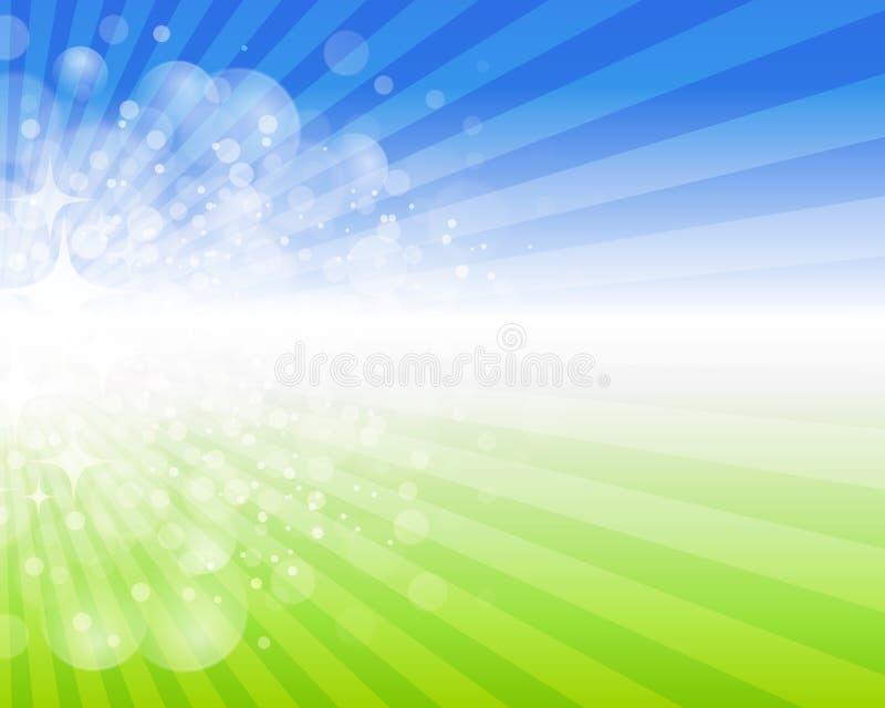 De achtergrond van de de lentepret stock illustratie