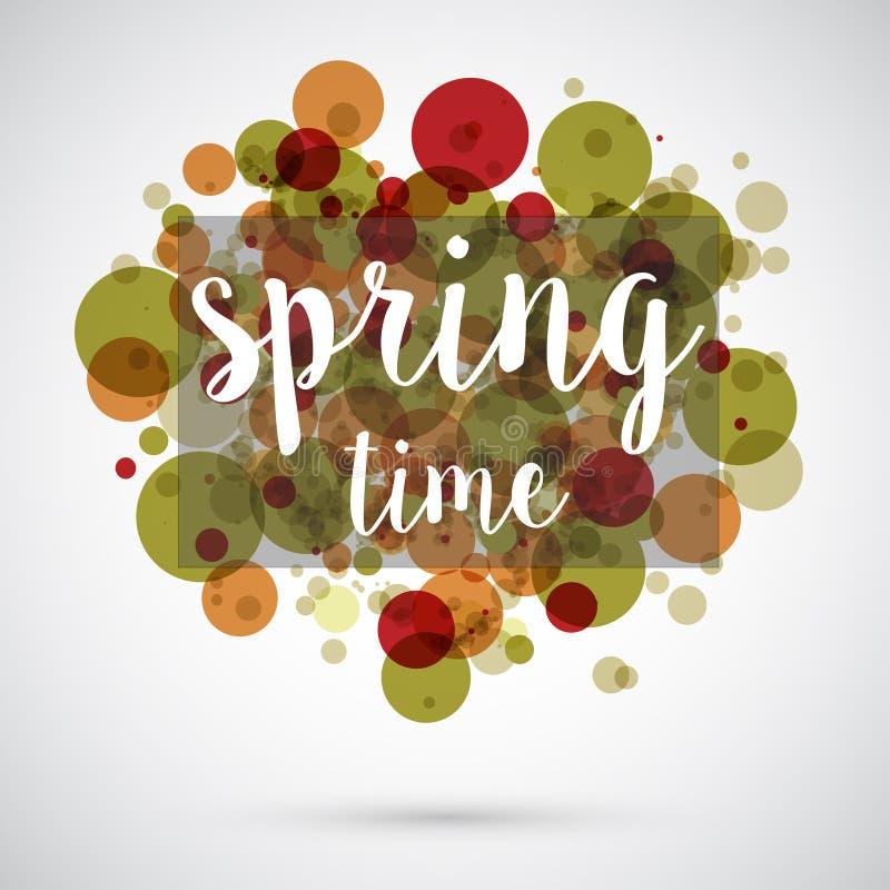 De achtergrond van de de lentetijd royalty-vrije illustratie