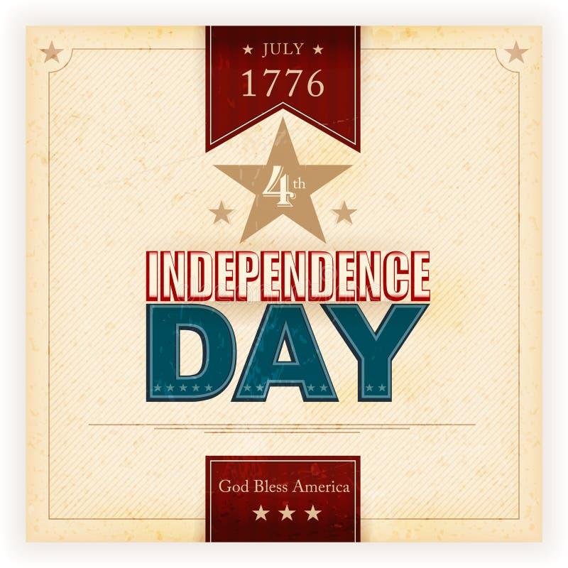 De Achtergrond Van De De Onafhankelijkheidsdag Van De V.S. Stock Afbeelding