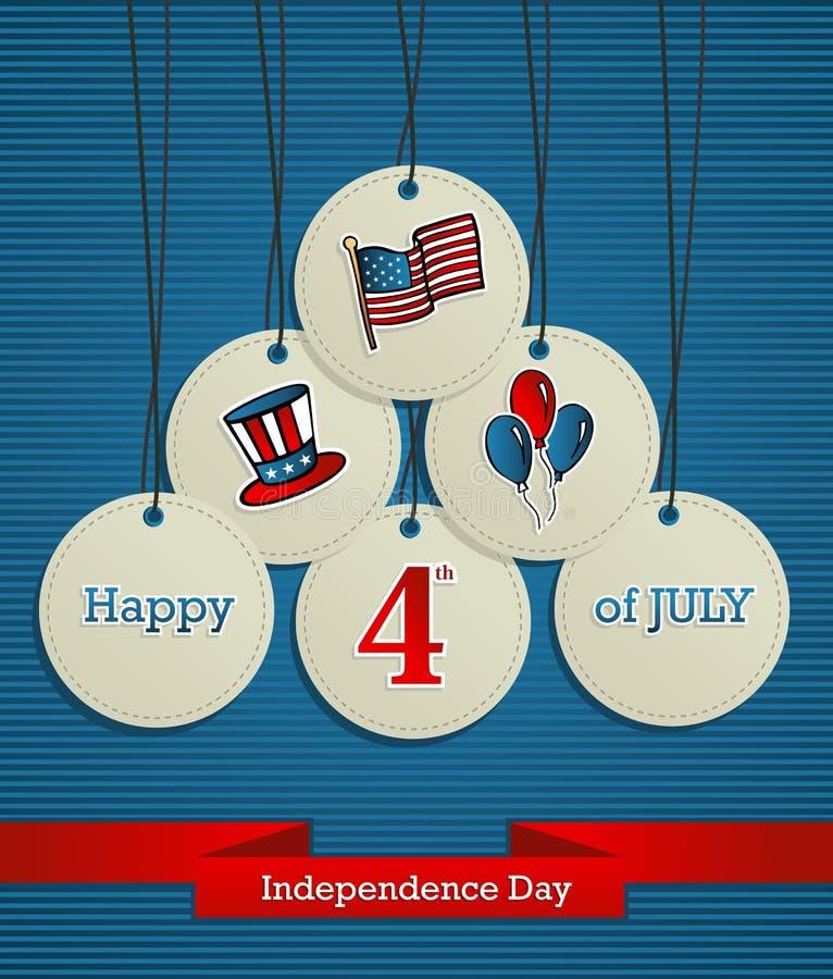De achtergrond van de de Onafhankelijkheidsdag van de V.S. royalty-vrije illustratie