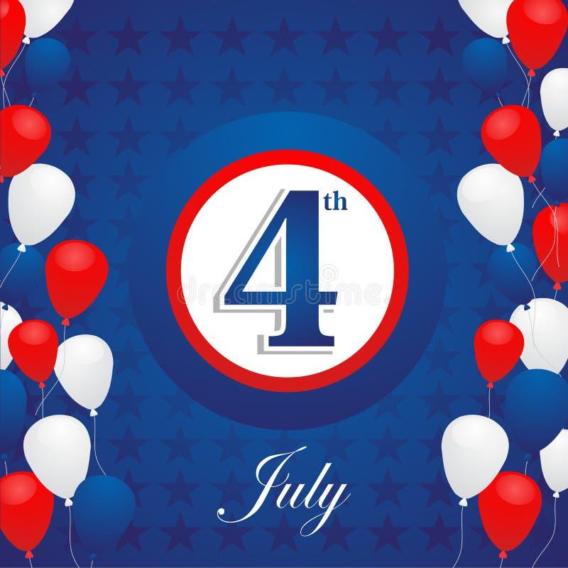 De achtergrond van de de Onafhankelijkheidsdag van de V.S. stock illustratie