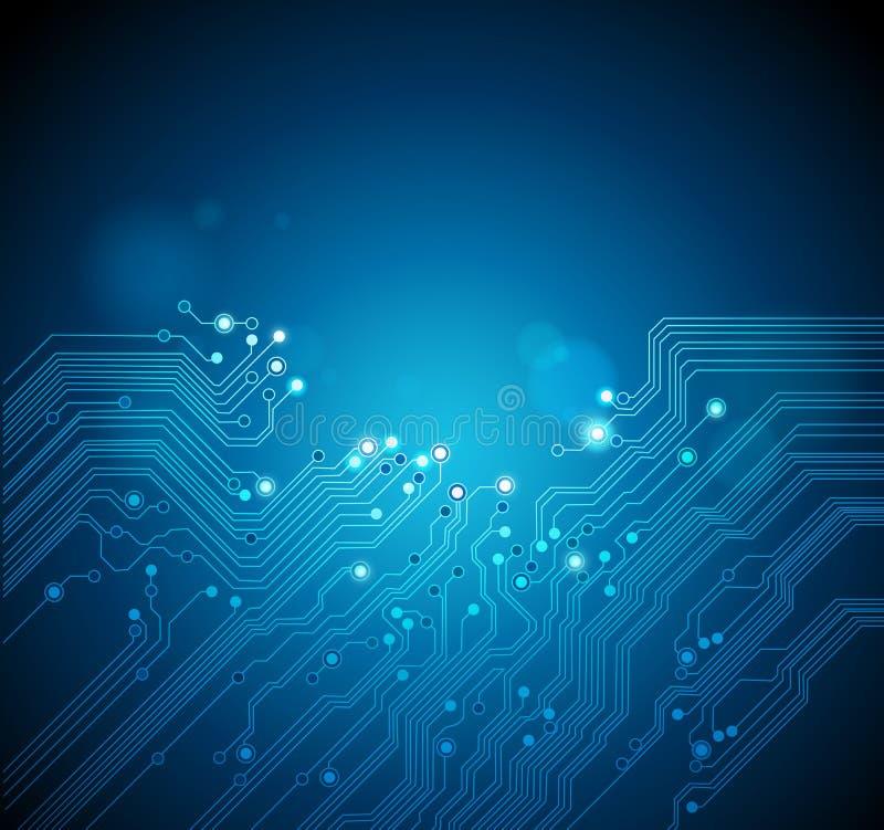 De achtergrond van de de raadstechnologie van de kring stock illustratie