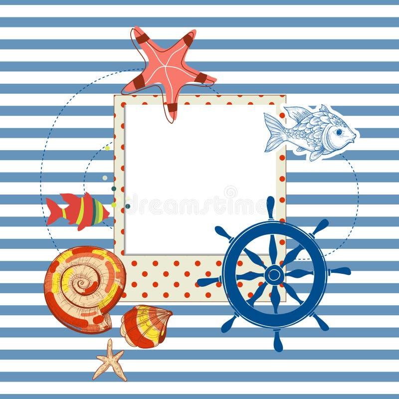 De achtergrond van de de zomermarine royalty-vrije illustratie