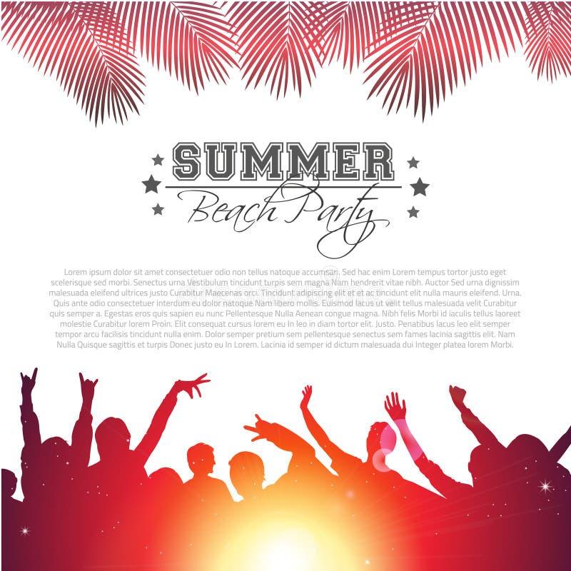 De Achtergrond van de de zomermuziek - Vector royalty-vrije stock foto