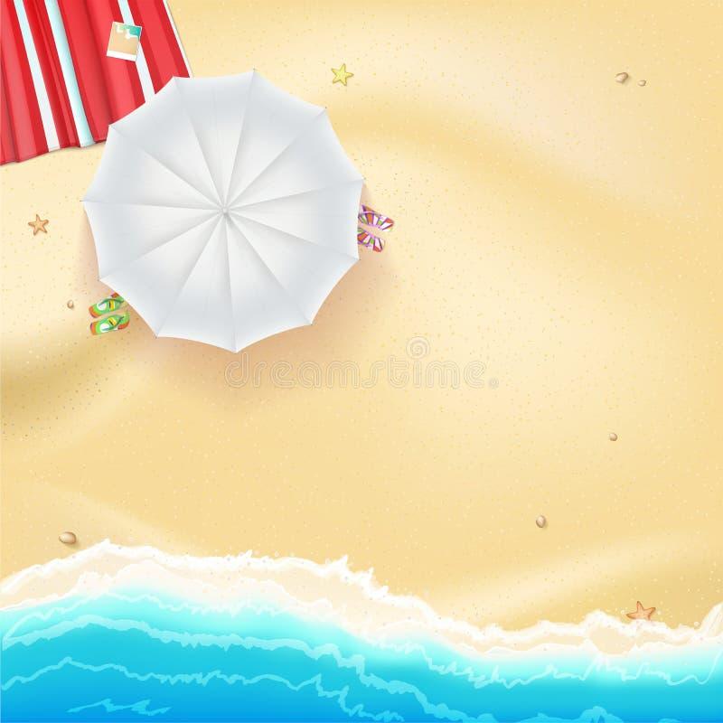 De achtergrond van de de zomerreis vector illustratie