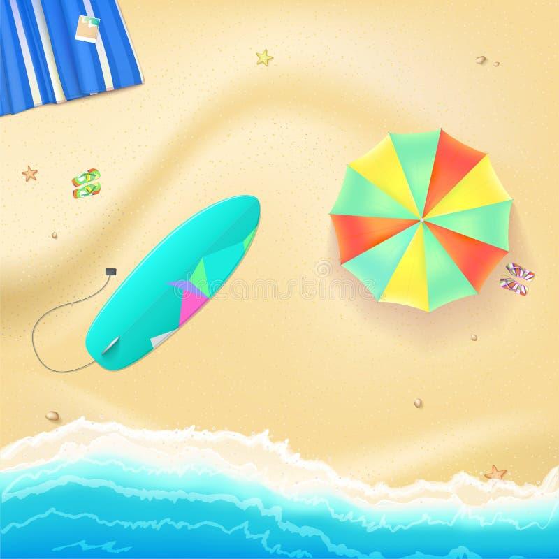 De achtergrond van de de zomerreis stock illustratie